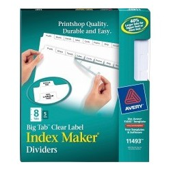 Avery Big Tab Index Maker...
